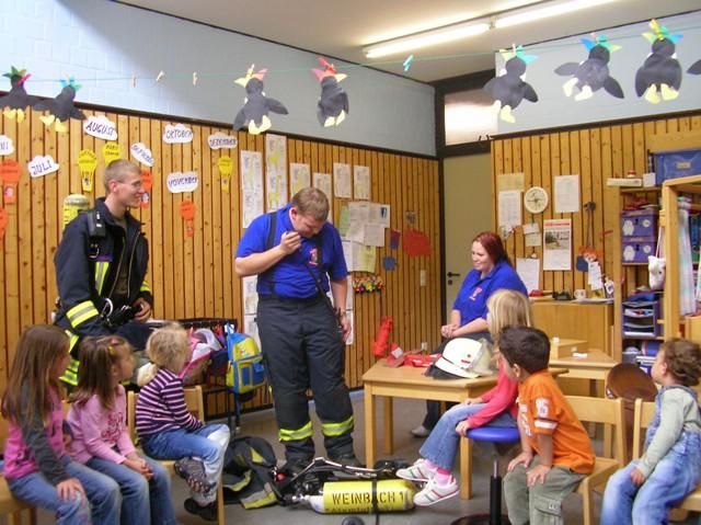 Brandschutzerziehung Kindertagesstätte Arche Noah Juni 2007