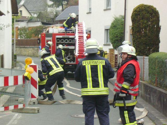 Alarmübung mit Feuerwehr Freienfels in der  Friedrich-Adolf-Straße