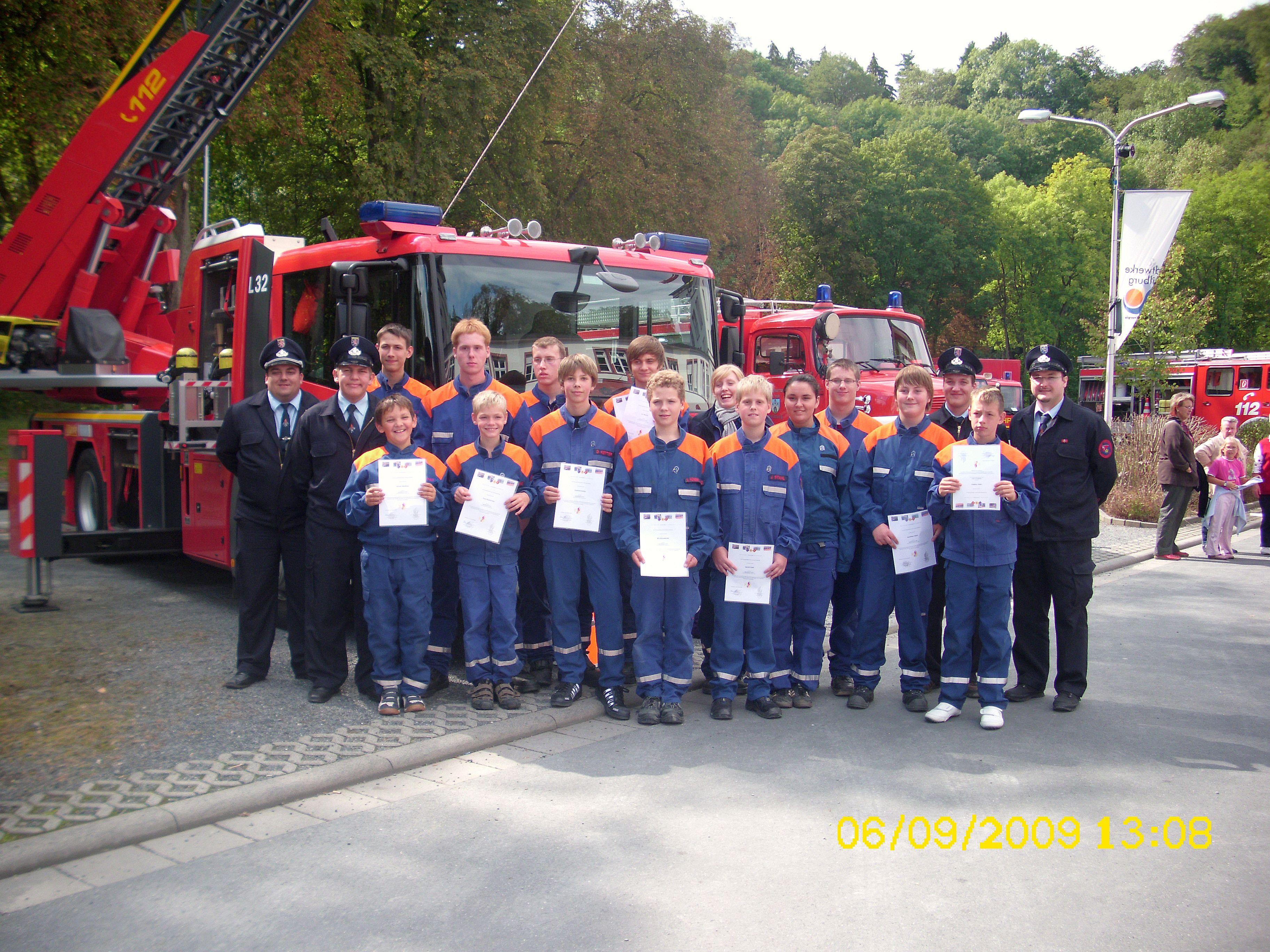 Abnahme der Jugendflamme Stufe 1-3 06.09.2009 in Weilburg
