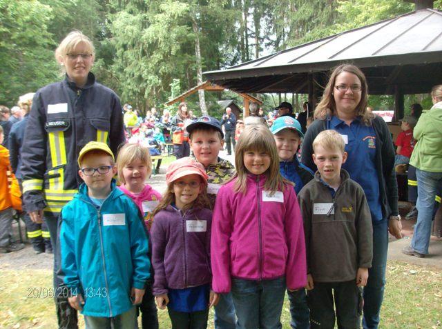 Besuch der Bambinigruppe beim Kinderfeuerwehrtag des Kreisjugendfeuerwehrzeltlagers am 20.06.2014