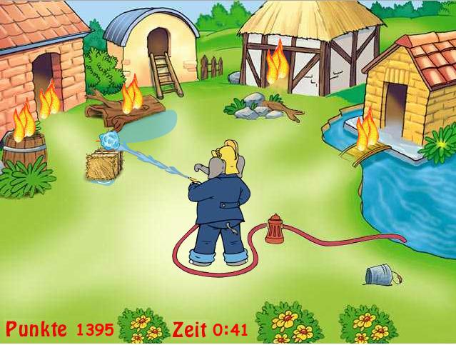 Benjamin als Feuerwehrmann